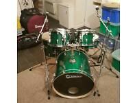 Premier Cabria 5 Piece Drum Kit MINT condition