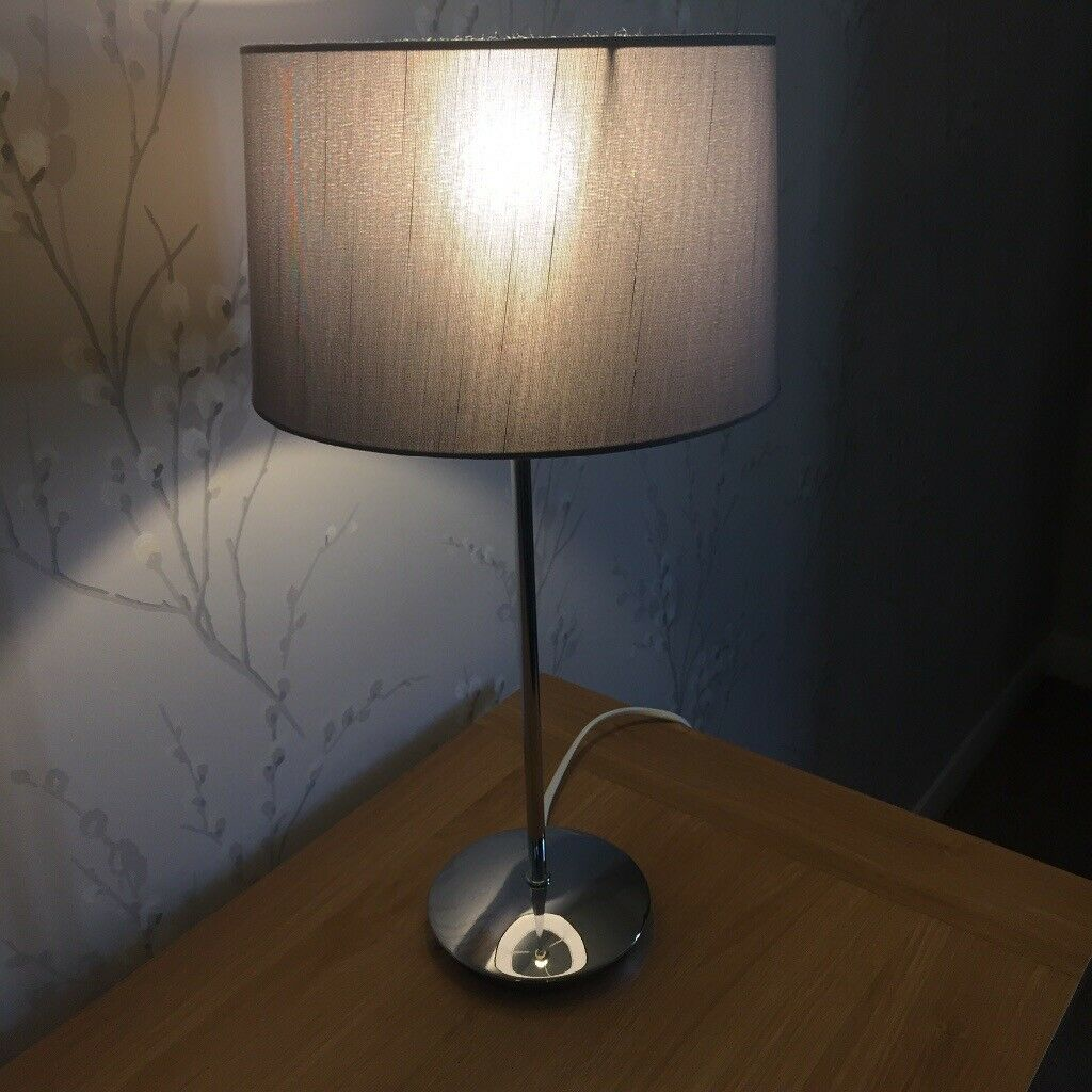 Next Small Silver Chrome Table Lamp In Guisborough North Yorkshire Gumtree