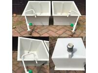 2x chemical lab sinks for sale  Shirley, West Midlands
