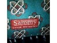 VINTAGE Scarf, Sammy, Turquoise Fringed