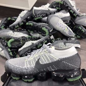 Nike Air VaporMax 'NEON GREEN & GREY'