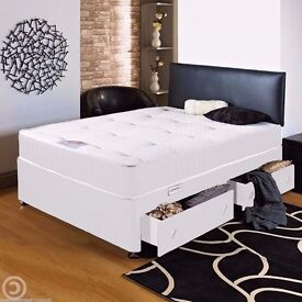 ORTHOPAEDIC DIVAN BED ** DOUBLE BED BASE WITH ORTHOPEDIC MATTRESS ONLY