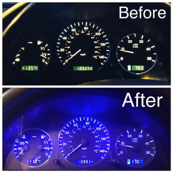 INSTRUMENT CLUSTER BULB REPLACEMENT FOR MERCEDES ML, CLK, SL, CL, E CLASS, C CLASS, S CLASS for sale  Norwich, Norfolk