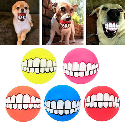 5 Pack/set Dog Balls Toys - Squeaky Fetch Funny Squeaky Chewing Balls Toys