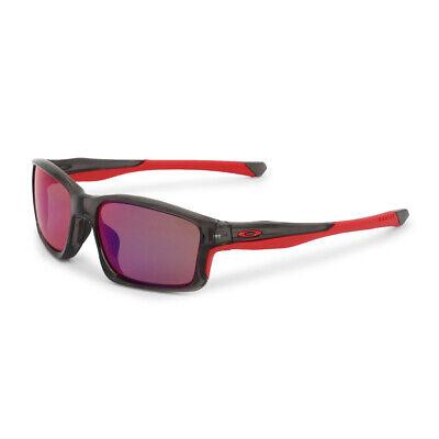 Oakley Herren Sonnenbrille Grau Rot UV2 Schutz Polarisiert CRANKSHAFT