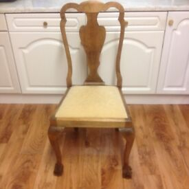CLASSIC QUEEN ANNE REVIVAL CHAIRS WITH LOVELY BALL & CLAW FEET