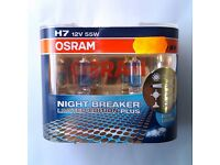 2x OSRAM H7 +110% Night Breaker Headlight Bulbs - Limited edition