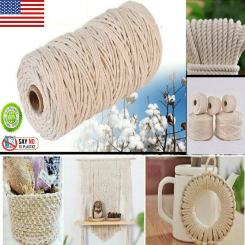 3MM 200M Thread Macrame Cord String Rope Twisted DIY Cotton