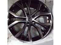 Vw golf santiago style gtd gti performance pack alloy wheels vw caddy audi s line vag 5112 tyres new