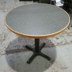 Black and grey flecked (Granite) Circular table