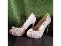 Size five nude heels new!!