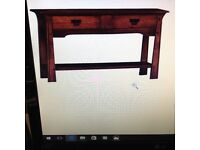 Rossmore/Sherry Legacy Oak Console Table