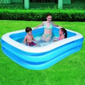 BESTWAY FAMILY SIZED SWIMMING POOL 400L GARDEN COOL WATER FUN PLAY KIDS