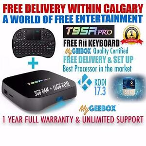 FREE CALGARY DELIVERY - NEW PREMIUM  G3 T95R Android 7 TV Box with KODI 17.3 S912 2/3GB RAM 16GB ROM