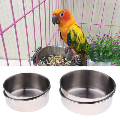 - 2PACK Bowls Coop Cup with Hook Holder for Birds Squirrels Parrot,etc