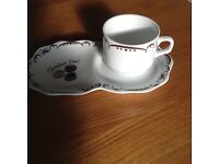 """""""Chocolate time """" saucer and cup ideal present with chocolates"""