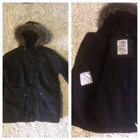 7-8 boys Craghoppers black waterproof coat