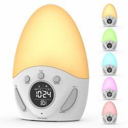 Rechargeable Sunrise Alarm Clock Smart Wake up Light Sleep Aid Digital Alarm