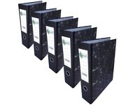 5 Lever Arch Files in perfect condition - A4 size