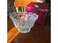 Large cut lead crystal fruit and truffle bowl