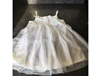 Girls White Tulle H&M Dress New With Tag