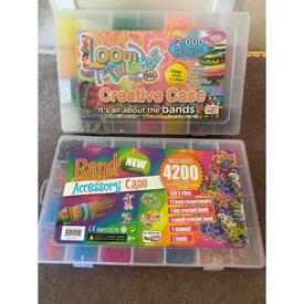 2 cases of Loom bands