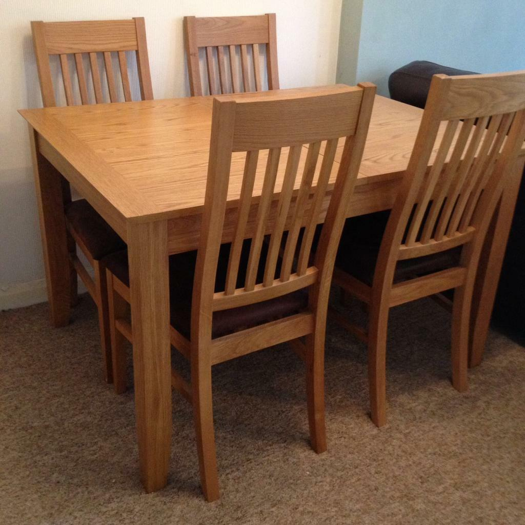John Lewis Dining Room Table And 4 Chairs