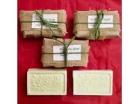 Hand made olive oil soap and coconut soap