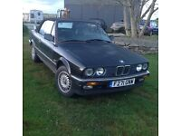 BMW E30 320 Convertible LHD 1989 fitted with 325i engine with new cambelt and water pump.