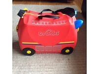 Trunki - limited edition red fire engine in excellent condition