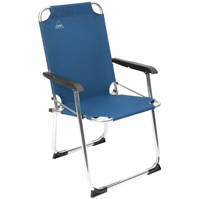 Camp Gear Folding Camping Chair Picnic Outdoor Classic Blue Aluminium 1211934