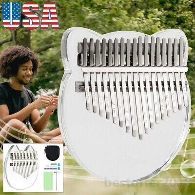 Kalimba 17-Key Thumb Piano Clear Acrylic Finger Musical Instrument Tuning Hammer