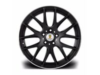 "Matt Black Polish Lip x4 18"" Stuttgart St3 Alloy Wheels 8.5J Bmw 1 2 3 Series"