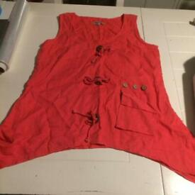Sleeveless top ladies size 18 vgc, summer clothes clothing