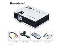 HD 1080P Mini Projector Multimedia LED LCD Home Theater Cinema USB SD AV HDMI UK