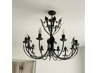 Large Wrought Iron Chandelier Ceiling Light