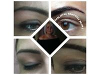 Microblading / Eyebrow Embroidery Brushstroke and Powder Brow £99 Top Up £69