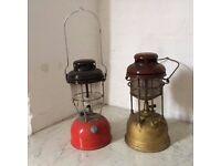 Antique Parrafin lamps