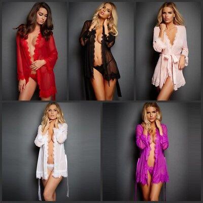 Plus Size Women Chemise Lingerie Set Lace Nightwear G-string Sleep Dress Pajamas - Plus Size Chemises