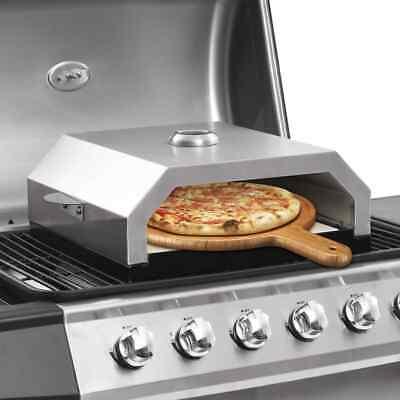 vidaXL Horno de Pizza con Piedra de Cerámica para Barbacoa Carbón Gas Plancha