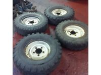 Land rover wheels and tyres full set of 5