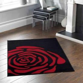 Black and red rug *NEW*
