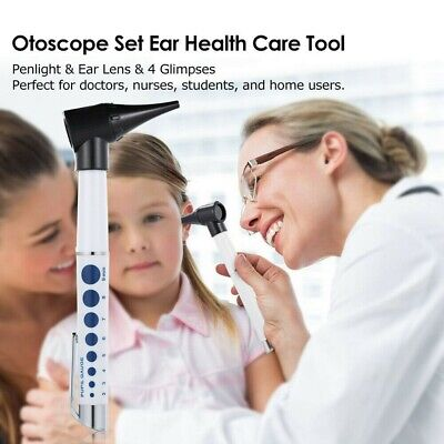 Medical Led Ear Diagnostic Otoscope Clinical Flashlight Ear Magnifying Lens