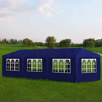 vidaXL Party Tent 10'x30' Blue Outdoor Garden Wedding Patio Gazebo Canopy Blue Canopy New Gazebo