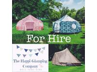 The Happi Glamping Company, Luna/Bell Tent 4m *HIRE* Staffordshire/South Cheshire.