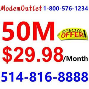 Unlimited Internet , no contract , LOWEST PRICE - $30/month  . Please Call 1-800-880-1234 or SMS 514-816-8888 to order