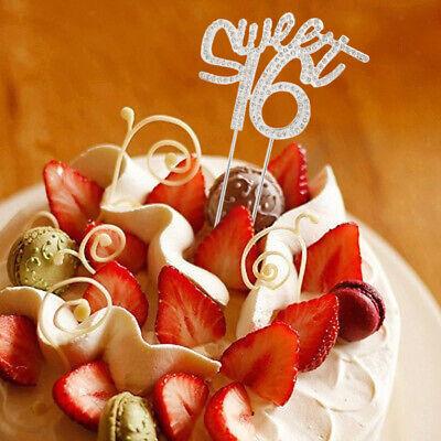 er Tortenstecker Kuchenfiguren Topper Gold (Sweet 16 Kuchen)