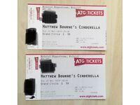 2 x tickets Matthew Bourne's Cinderella (Great Mother's Day gift!)