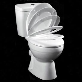 Brand New Contract WC Close Coupled Toilet With Soft Close Seat