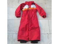Red Wed'ze Ski Suit Age 4, Girls / Boys / Childs All-in-One with Hood